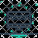 Broken Split Cracked Icon