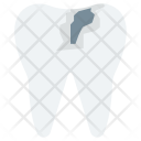 Broken Tooth Damaged Icon