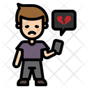 Broken Heart Chatting Icon