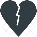 Broken Heart Breakup Icon