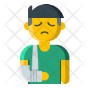 Broken Arm Fracture Icon