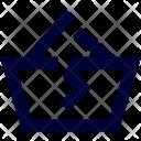 Broken Basket Handcart Icon