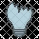 Broken Bulb Crack Bulb Idea Icon