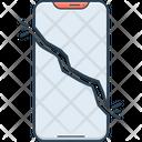 Broken Cell Phone Split Icon