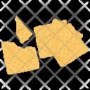 Broken Cookies Crumbs Icon