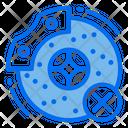 Broken Disc Brake Icon