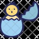 Broken Egg Chick Easter Icon