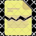Broken Contract File Icon