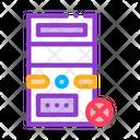 Broken Computer Design Icon