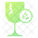 Broken Glass Glass Recycling Icon