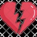 Broken Heart Love Valentine Icon
