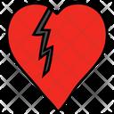 Injured Heart Broken Heart Sad Heart Icon