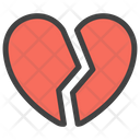 Broken Heart Crack In Relationship Divorce Symbol Icon
