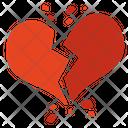 Broken Heart Break Up Divorce Icon
