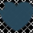 Broken Heart Heart Sign Favorite Sign Icon