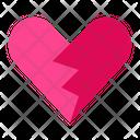 Broken Heart Emoticon Love Icon