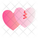 Broken Heart Love Romance Icon