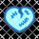Broken Heart Color Icon