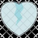 Funeral Broken Heart Sad Icon