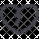 Broken Valentine Break Icon