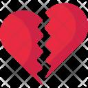 Broken Valentine Heart Icon