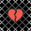 Broken Love Heart Icon