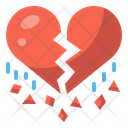 Broken Heart Heartbreak Love Icon