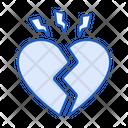 Broken Heart Heart Cracked Icon
