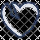 Broken Heart Cracked Heart Divorce Icon