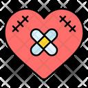 Broken Heart Bandage Heart Icon