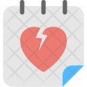 Broken Heart Calendar Icon