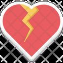 Broken Heart Breakup Heartbreak Icon