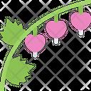Broken Heart Flower Pack Symbol Icon