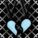 Broken Heart Necklace Icon