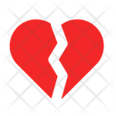 Broken Hearth Sad Man Icon