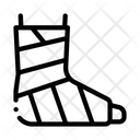 Leg Foot Gipsum Icon