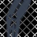 Broken Leg Bone Icon