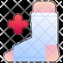 Broken Leg Bandage Wounded Icon
