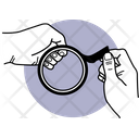 Broken Magnifying Glass Magnyfying Glass Magnyfyer Icon