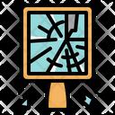 Broken Mirror Mirror Breaking Icon