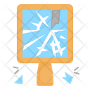 Broken Mirror Mirror Breaking Belief Superstition Badluck Icon