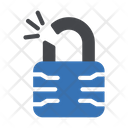 Broken Lock Security Icon