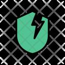 Security Broken Cyber Icon