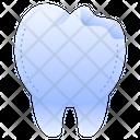 Broken Tooth Broken Crack Icon