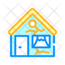 Broken Damaged House Icon