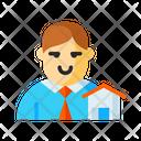 Broker Real Estate Broker Home Agent Icon