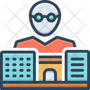 Bussiness Man Building Icon
