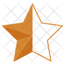 Bronze Half Star Star Award Icon