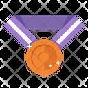Bronze Medal Award Copper Icon