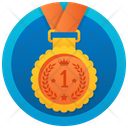 Bronze Medal Numbering Medal Gold Medal Icon